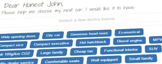 Let the Honest John Chooser pick your next car...