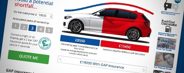 GAP Insurance from as little as £37.00